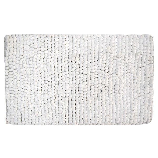 Tapete de Bolinhas - 50 x 80cm - Branco - Kacyumara