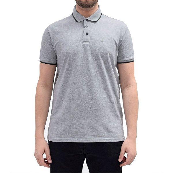 Camisa Polo Básica - Cinza/Preto - Ellus