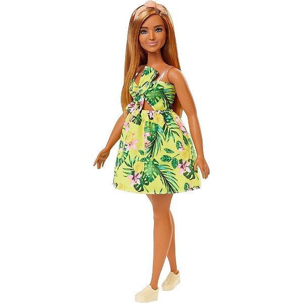 Barbie Fashionista Vestido Floral Amarelo - 126 - Mattel