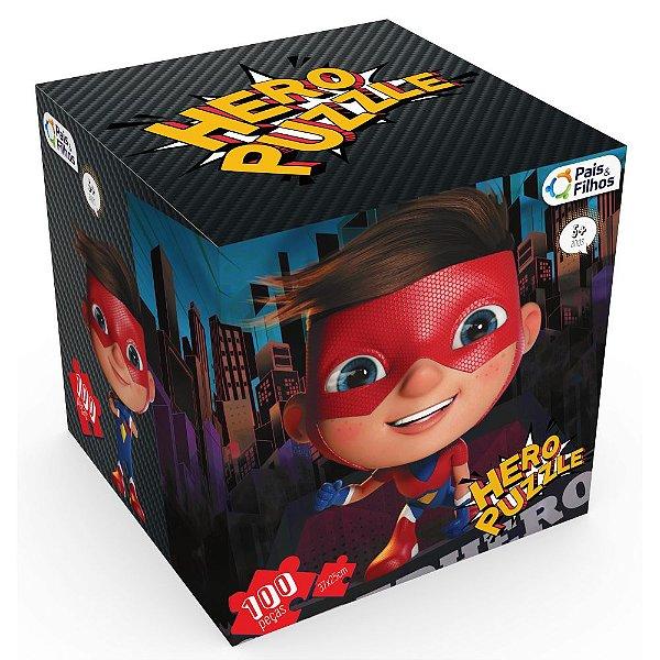 Quebra-Cabeça 100 Peças - Hero Puzzle Heroi - Pais & Filhos