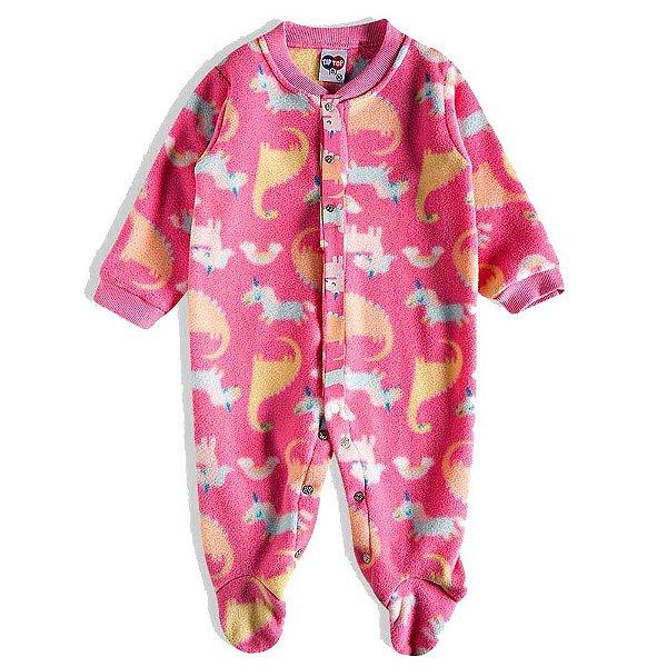 Pijama Macacão Soft Kids Antiderrapante - Magic Rosa - Tiptop
