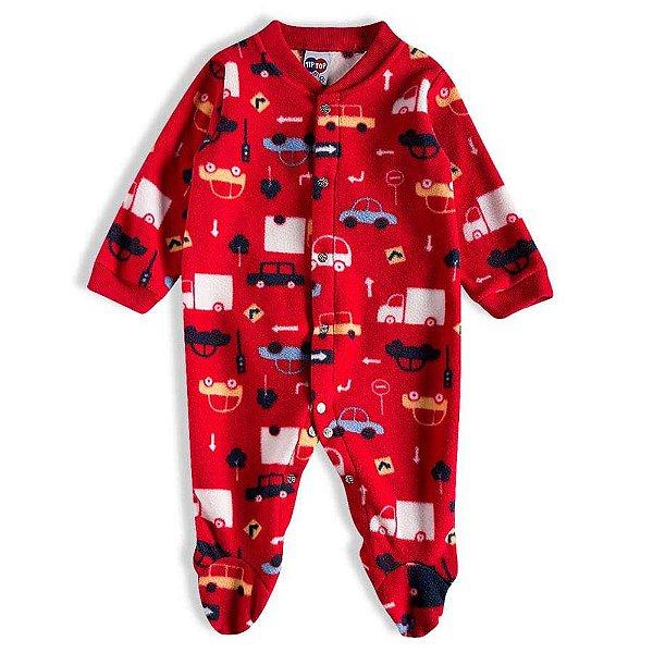 Pijama Macacão Soft Kids Antiderrapante - Cars Vermelho - Tiptop