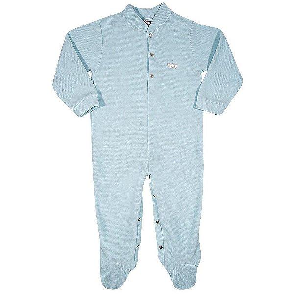 Pijama Macacão Soft Kids Antiderrapante - Azul - Tiptop