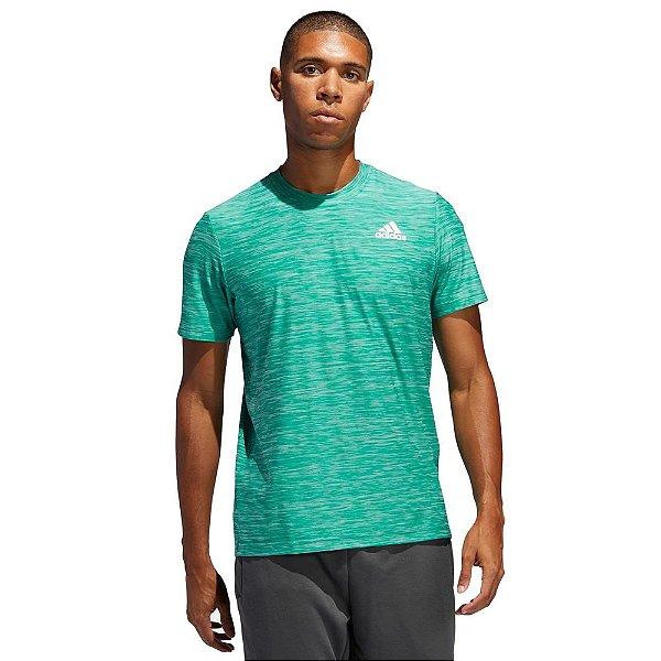 Camiseta All Set Mescla Verde - Adidas
