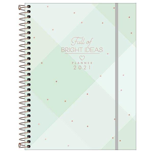Agenda Planner Bright ideas 2021 - Verde - Tilibra