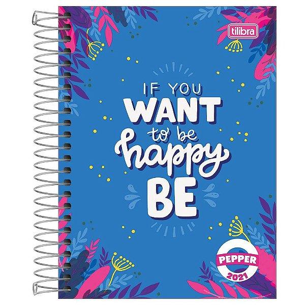 Agenda Diária Pepper 2021 - Happy - Tilibra
