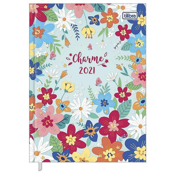 Agenda Diária Costurada Charme 2021 - Flowers - Tilibra