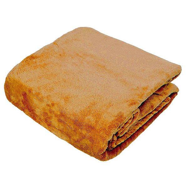 Cobertor Super Soft Liso Casal 300g  - Âmbar - Naturalle