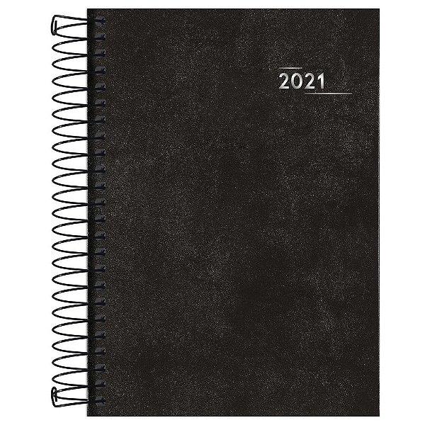 Agenda Diária Napoli 2021 - Preto - Tilibra