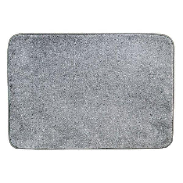 Tapete Confortex Para Banheiro 40cm x 60cm - Cinza - Via Star