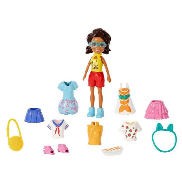 Polly Pocket Kit Fashion - Pack de Viagem Moderno - Mattel
