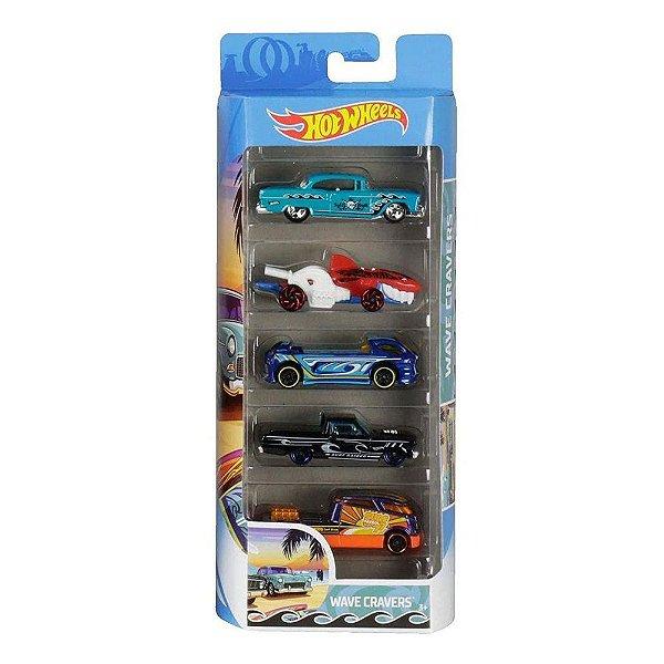 Kit Hot Wheels 5 Unidades - Wave Cravers - Mattel