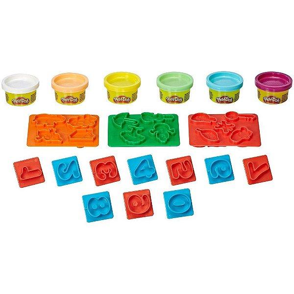 Conjunto Play-Doh - Formas e Números - Hasbro