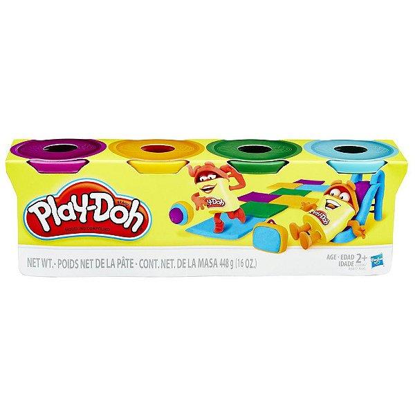 Conjunto Play Doh - 4 Potes - Hasbro
