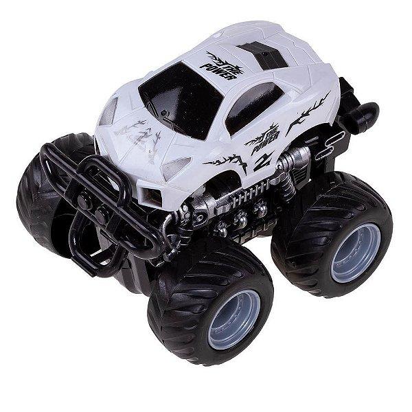 Carrinho Monster Truck Express Wheels Fricção - Branco - Multikids