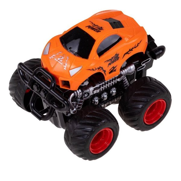 Carrinho Monster Truck Express Wheels Fricção - Laranja - Multikids