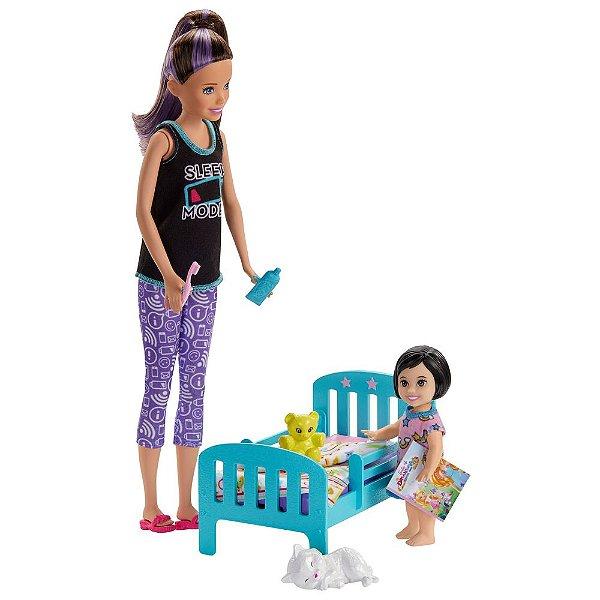 Boneca Barbie Skipper Babysitters - Hora de Dormir - Mattel