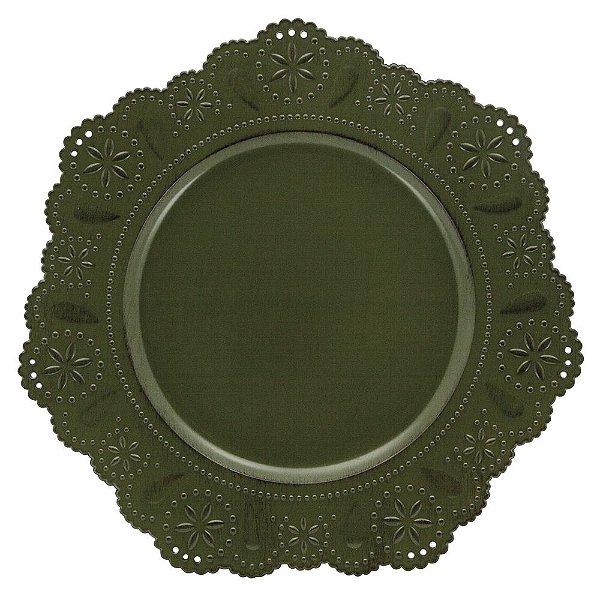 Jogo de 2 Peças Sousplat Renda - Verde - Mimo style