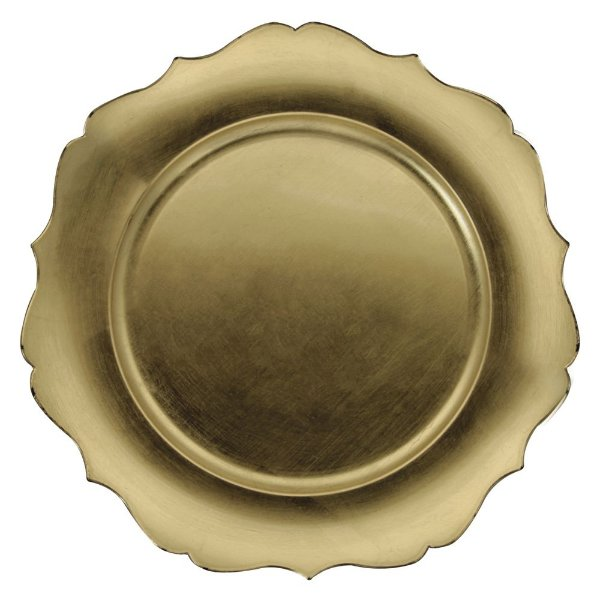 Jogo de 2 Peças Sousplat Versalhes - Dourado - Mimo style