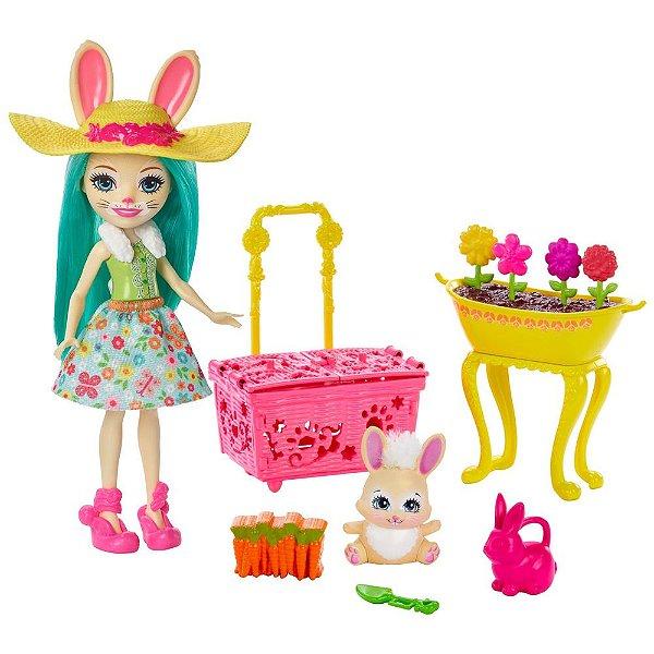 Enchantimals Fluffy Bunny e Mop - Festa no Jardim - Mattel