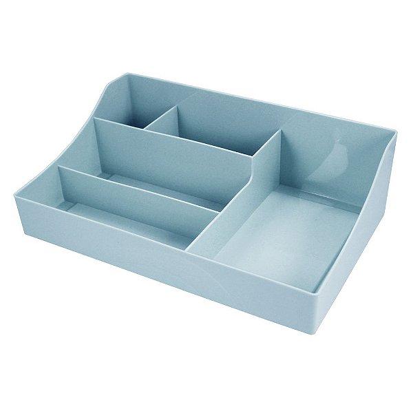 Organizador Multiuso - 5 Divisórias - Azul - Jacki Design