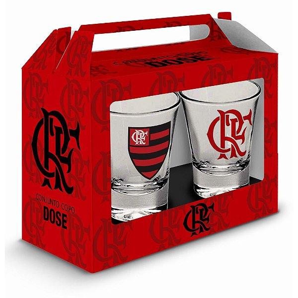 Conjunto de 2 Copos de Dose - Flamengo - Brasfoot