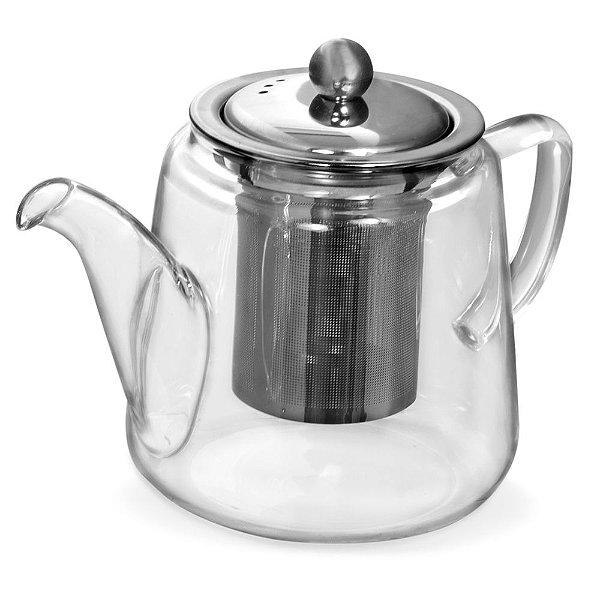 Bule para Chá em Vidro Borossilicato com Infusor - 600ml - Mimo Style