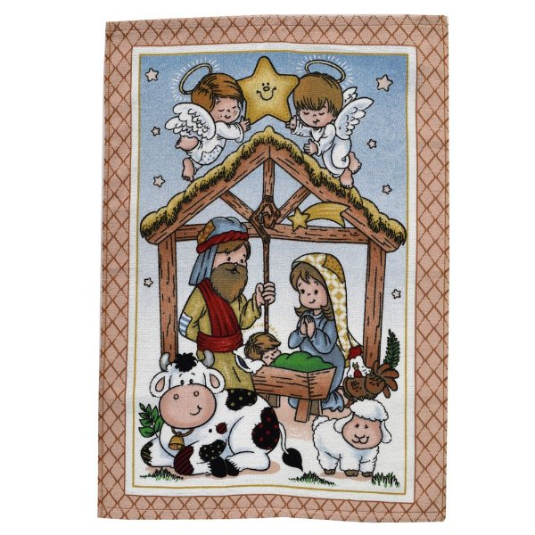 Pano de Copa Felpudo Natal - Menino Jesus - Döhler