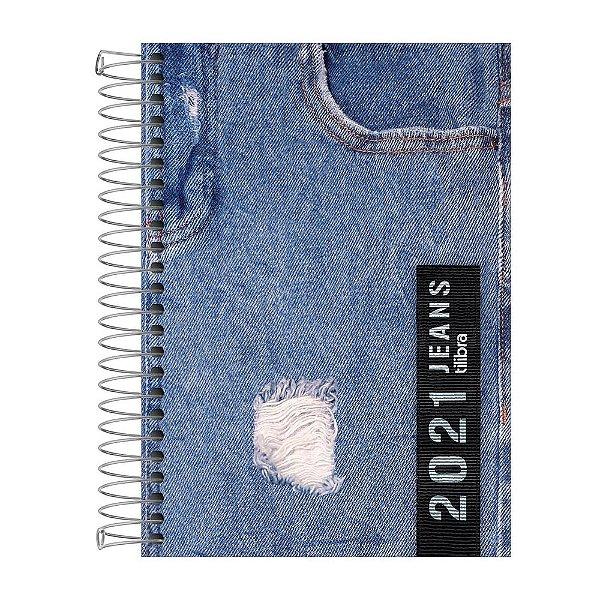Agenda Diária Jeans 2021 - Bolso Desfiado - Tilibra
