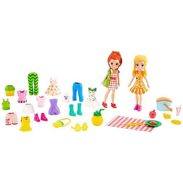 Polly Pocket - Conjunto de Estilos Piquenique - Lila e Polly - Mattel
