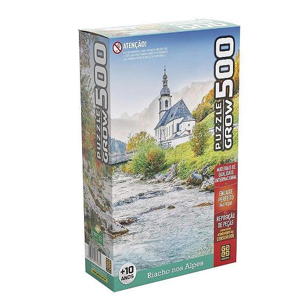 Quebra-Cabeça Riacho nos Alpes - 500 peças - Grow