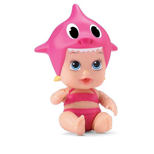 Boneca Little Dolls Tubarãozinho - Rosa - Divertoys