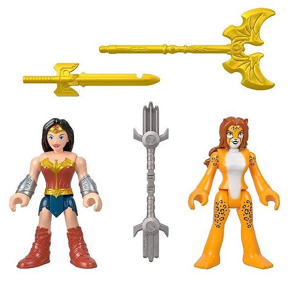 Imaginext DC Super Friends - Mulher Maravilha e Cheetah - Imaginext