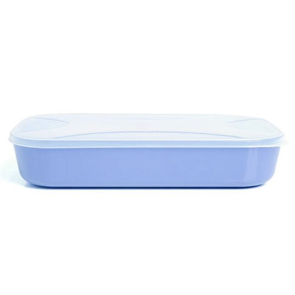 Pote Organizador Retangular Color Azul - 1,2L - Top Line ud.