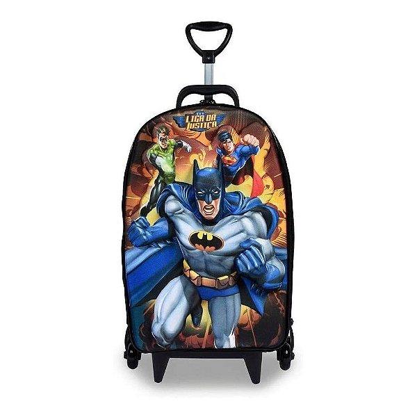 Mochila com Rodinha 3D - Liga Da Justiça - Batman - Diplomata