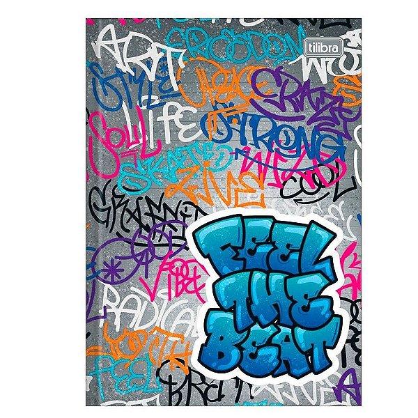 Caderno Brochura Graffiti - Capa Cinza -  Tilibra