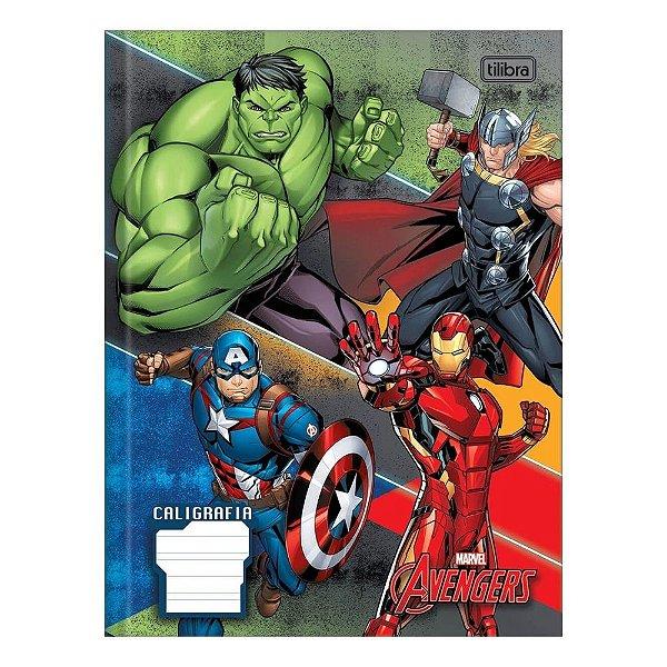 Caderno de Caligrafia Avengers - Quarteto - Tilibra