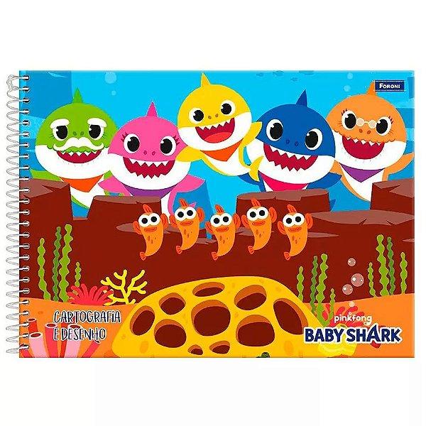 Caderno de Cartografia e Desenho - Baby Shark - Foroni