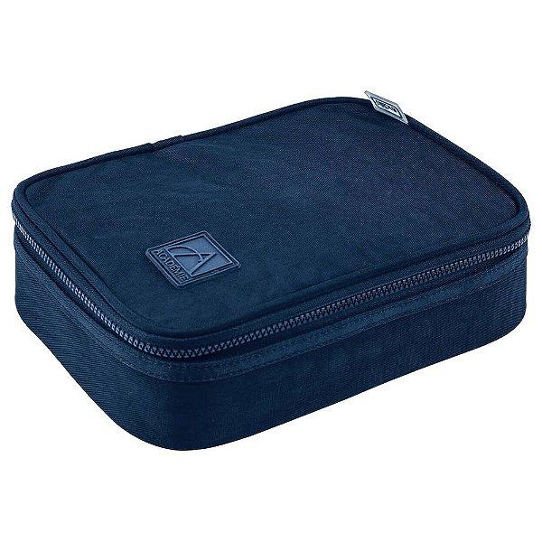 Estojo Box Académie Azul Marinho - Tilibra