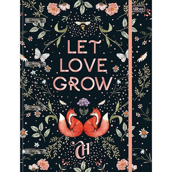Caderno Argolado Let Love Grow Capricho - 80 Folhas - Tilibra