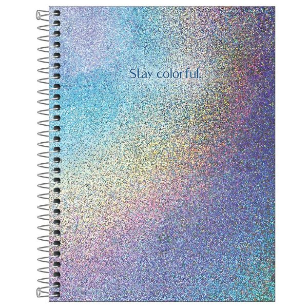 Caderno Colegial Glow - 80 Folhas - Stay Colorful - Tilibra