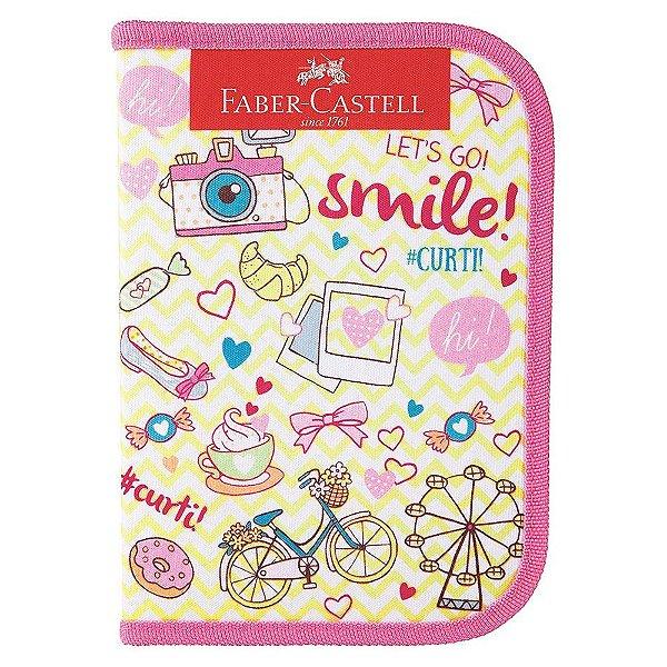Estojo Escolar Com 18 Itens - Smile - Faber Castell