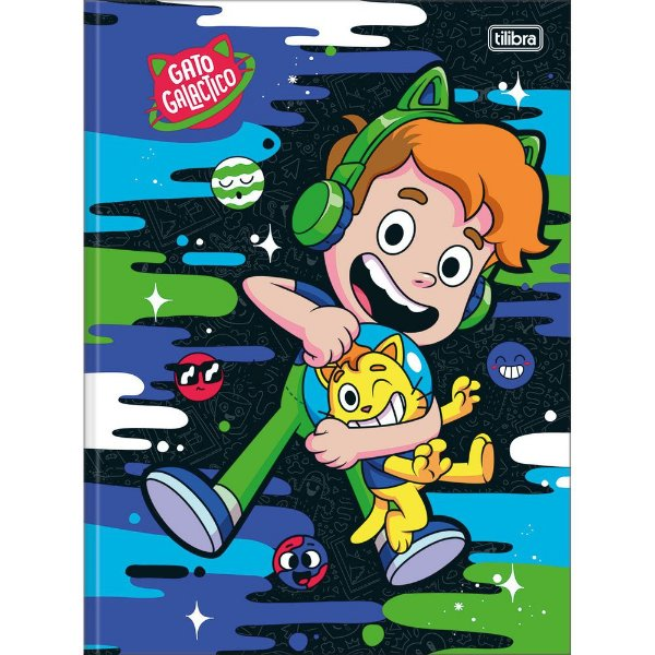 Caderno Brochura Gato Galactico - Cat - 80 Folhas - Tilibra