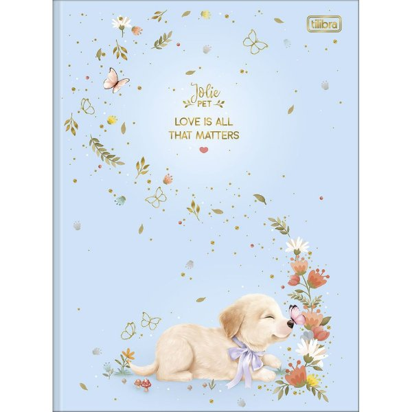 Caderno Brochura Jolie Pet - Love is All - 80 Folhas - Tilibra