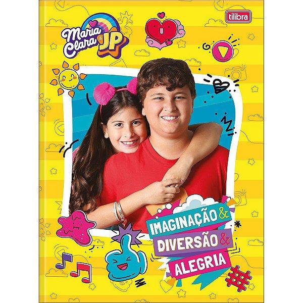 Caderno Brochura Maria Clara e JP - Diversão e Alegria - 80 Folhas - Tilibra