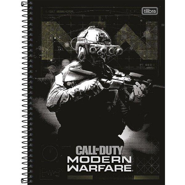 Caderno Call Of Duty - Modern Warfare - 10 Matérias - Tilibra