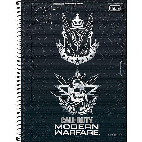 Caderno Call Of Duty - Caveira - 10 Matérias - Tilibra