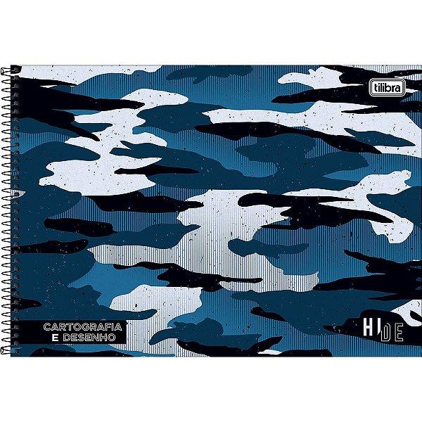 Caderno de Cartografia e Desenho Hide - Azul - Tilibra