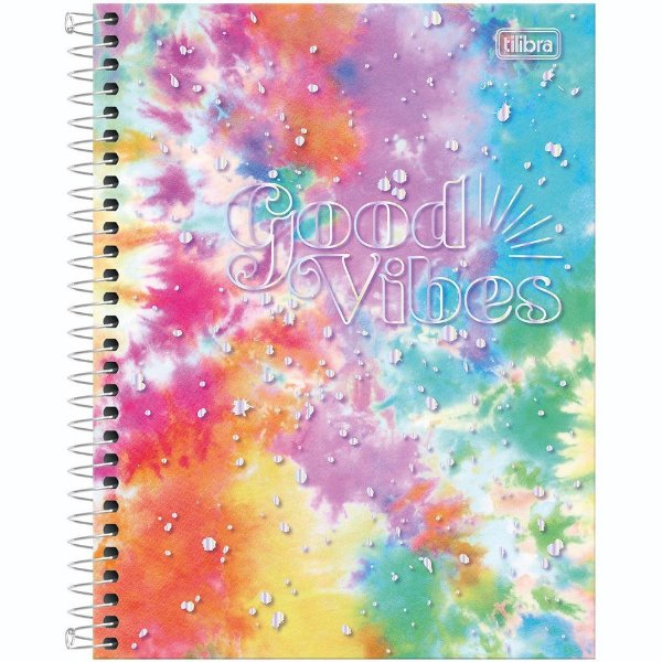 Caderno Good Vibes - Colors - 80 Folhas - Tilibra