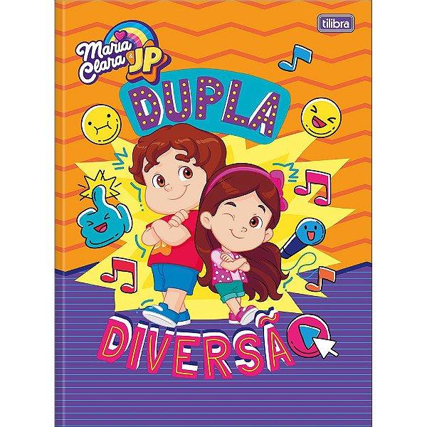 Caderno Brochura Maria Clara e JP - Dupla Diversão - 80 Folhas - Tilibra